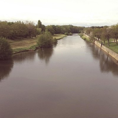 View of River Aude from the bridge
