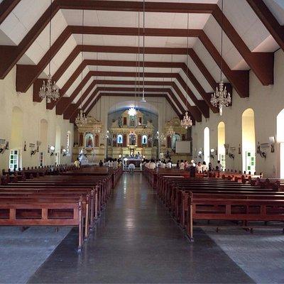bangued church interior and front shot