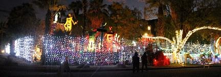 Kenny Irwin's Robolights display is free, but donations are accepted. Lots of lights to pay for!