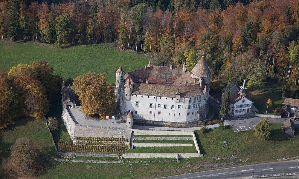 Château d'Oron Vue aérienne