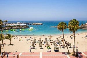 Puerto Colon Beach in Tenerife Las Americas looking hot today