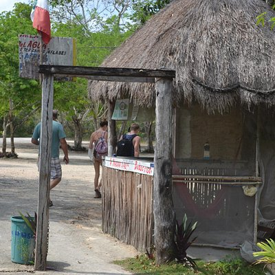 Ticket booth at Kanlum Lagoon