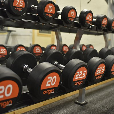 A variety of free weights