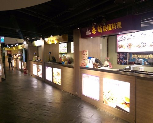 Many options in the basement food court