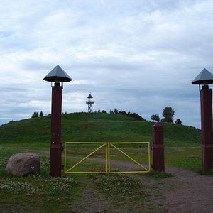 Kumparepuisto Park in summer, Kotka Finland