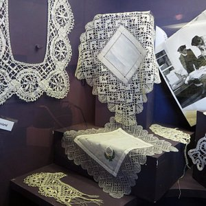 Beautiful hand-made lace made on the island.