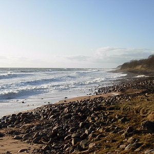 South of Helmsdale at high tide
