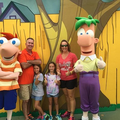 We meet Phineas and Ferb!