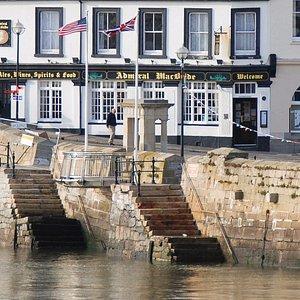 Mayflower Steps, Barbican, Plymouth, Devon.