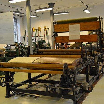 ekspozycja maszyn włókienniczych