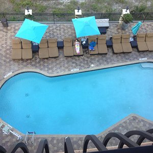 Pool view from 5th floor