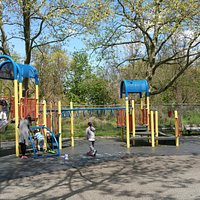 Jungle gyms at Horatio Playground
