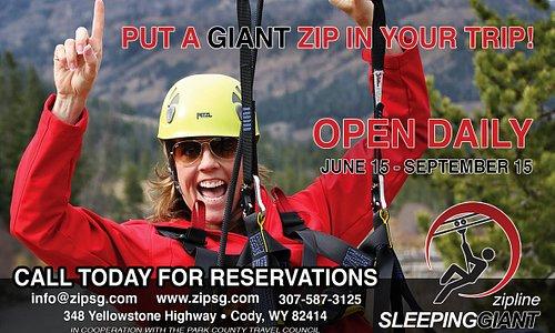 Sleeping Giant Zipline Cody Wyoming