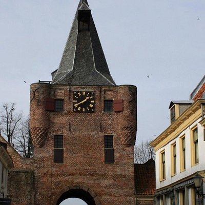 The gate, the picture taken from the center of town....