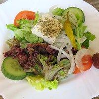 Greek Salad - Lunch at Mykonos, Munich (06/May/16).