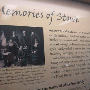 "Display features ""Memories of Stowe"""