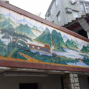 Hung Shing Temple - tile mural