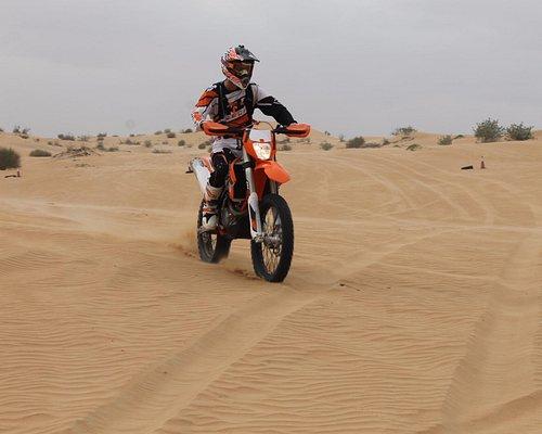 My elder son with the dirt bike