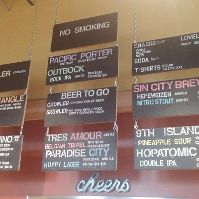 Current selection of brews