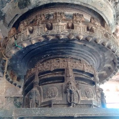 piller inside temple