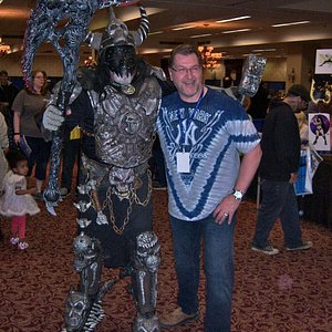 artist Joe Jusko and fan in main first floor hall @ Rochester Riverside Convention Center