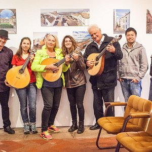"""Great interactive sessions """"Keep the portuguese guitar alive in your hands"""" . Photo by valeri"""