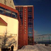 Harstad Kulturhus, bathing in the long awaited sunshine. February 2016.