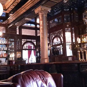 The bar in the Cauliflower is amazing with many of the original features with cut glass pannels,