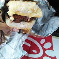 My spicy chicken biscuit with egg and cheese! Sooooooo good