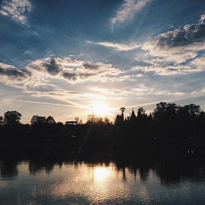 Закат на Келарском пруду