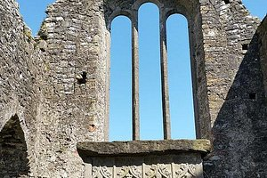 east gable end is a 16th century window