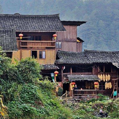 Miao minority village in Guizou province, China