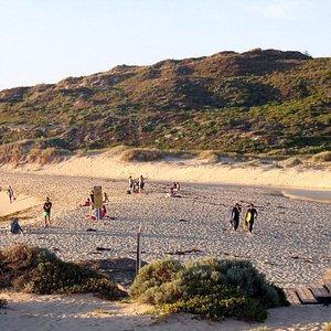Sandbar at the River Mouth Beach