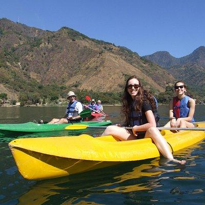 Relax in kayak on Lake Atitlán