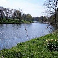 The River Nith at Ellisland of Robert Burns fame