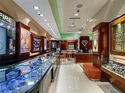 Interior of Grand Jewelers Store.
