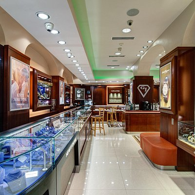 Interior of Grand Jewelers Store.