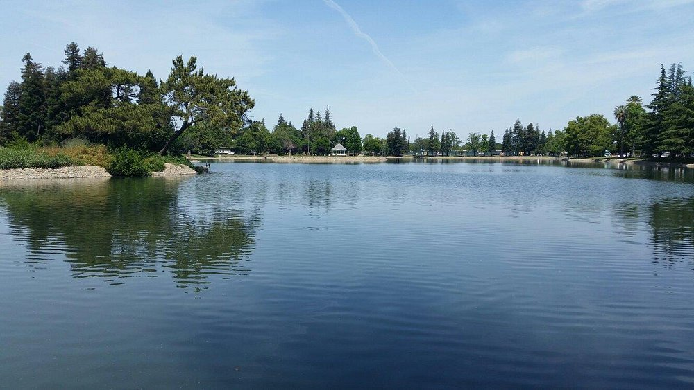 A large & beautiful lake, in the middle of town. Has a nice sidewalk all the way around for a go