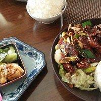 Detta är Katsu chicken med söt soja. En av de godaste maträtter i hela världen.