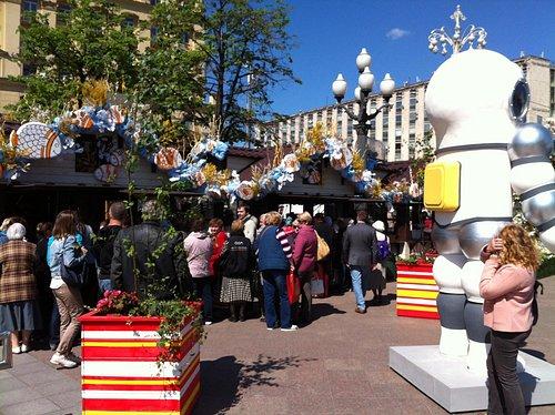 на Пушкинской палатки