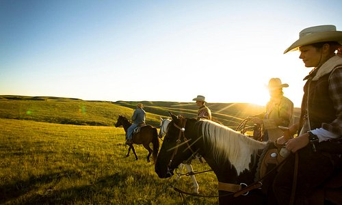 Sunset ranch ride