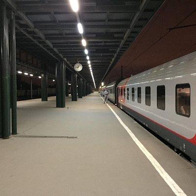 Остановка на Ладожском вокзале