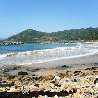清ヶ浜 白砂の海水浴場の景色
