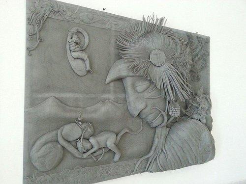 Hanging in the PlanatriumTapachula, Chiapa  artist Thomas E. Carlos de la Cerda  using metal fly