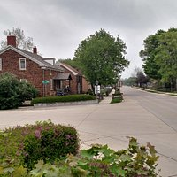 The main street in Amana, Iowa