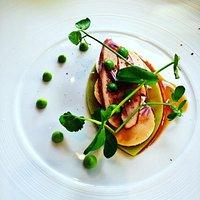 foie gras avec déclinaison de petits pois