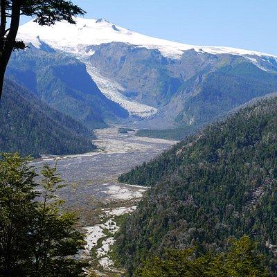 Ventisquero amarillo glacier, Pumalin park