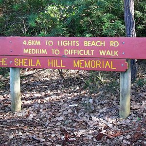 One of the signs at the trailhead