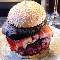A well-stacked burger