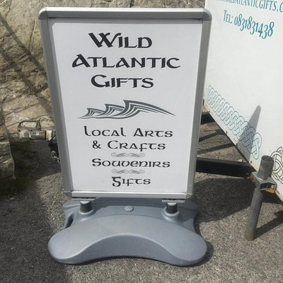 Sign outside the shop